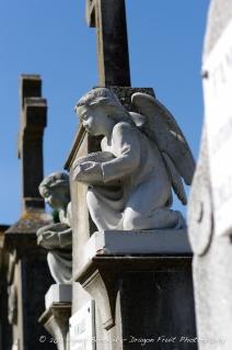 A sculpture on an ancient grave.
