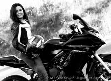 Self portrait on my motorcycle