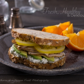 Fresh, Healthy and delicious real turkey sandwich.