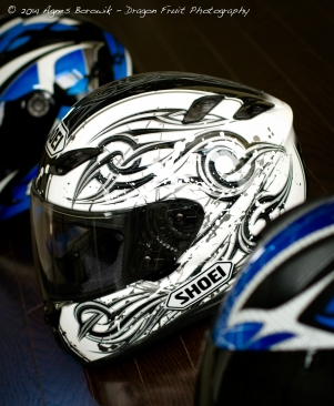 My black and white helmet.