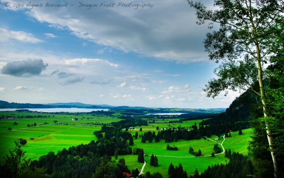 Bavaria Germany, a lookout point at the Neuschwanstein Castle