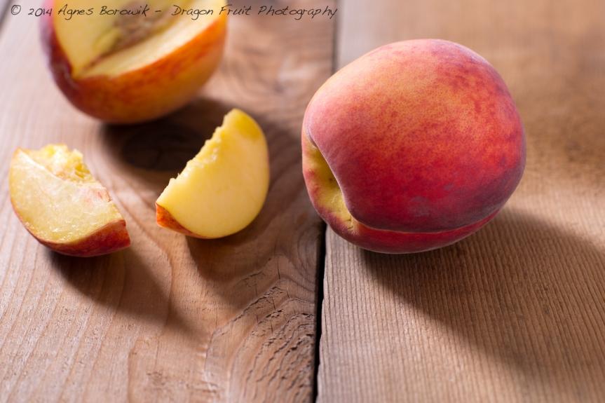 Fresh summer peaches