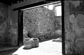 Clay pots were used to store food, as there was no refrigeration in those days, the clay bots were below ground to keep food cool.